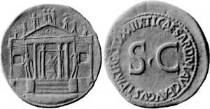 Tempio della Concordia sesterzio di Tiberio