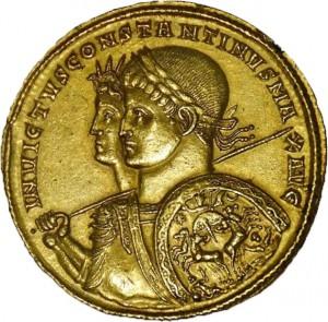 Medaglione in oro di Costantino
