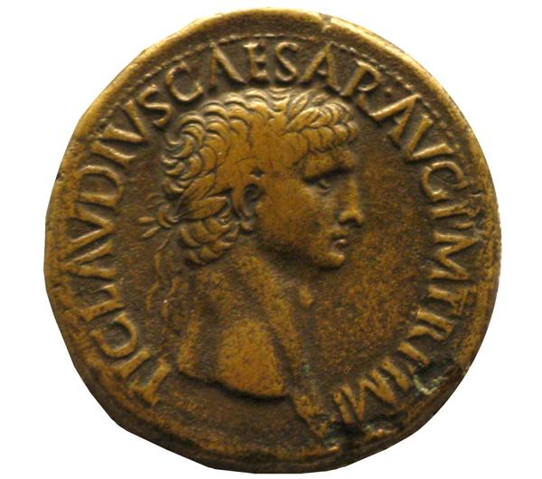 moneta imperiale romana claudio bronzo 41-50 DC